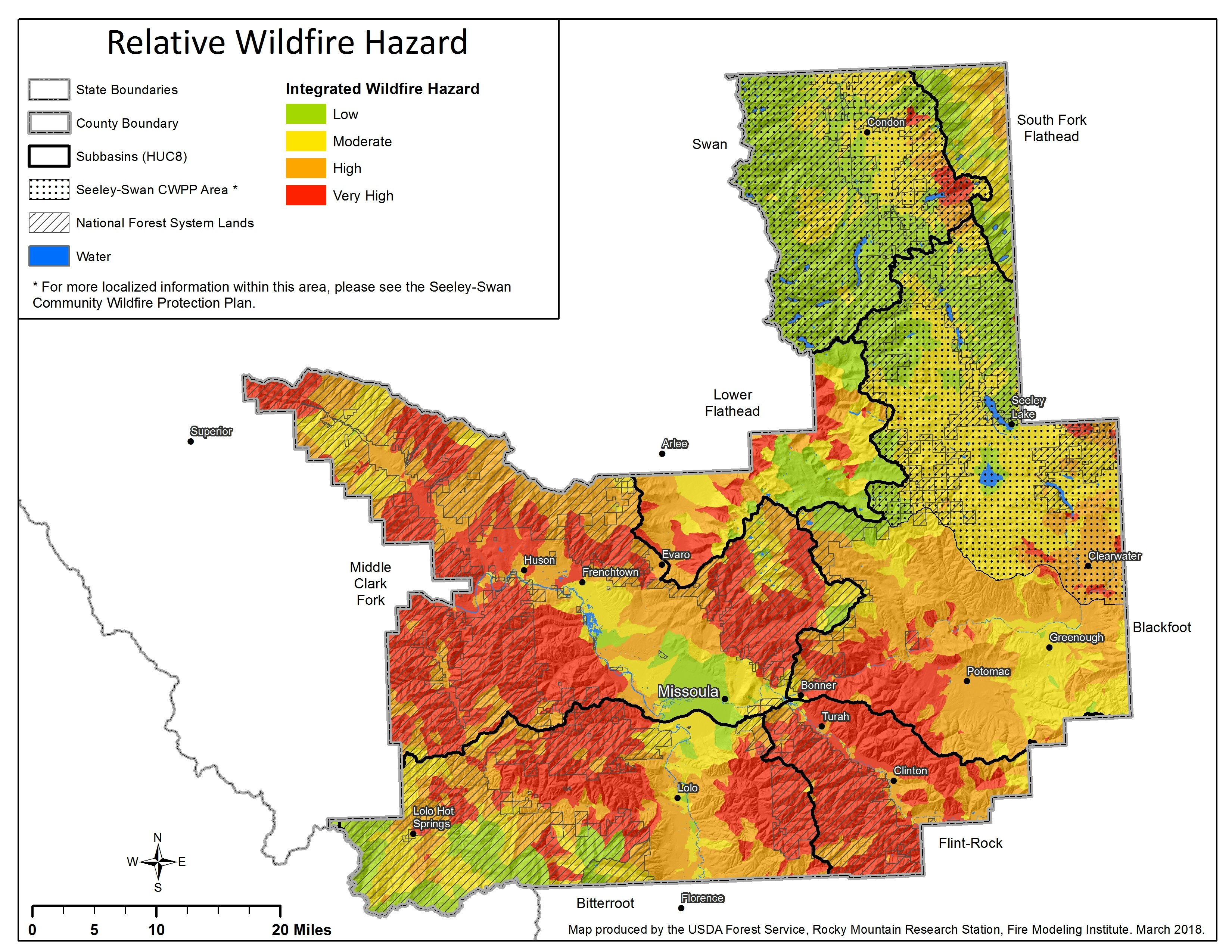 Relative Wildfire Hazard 051319